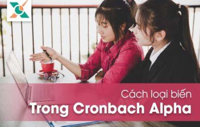 Cách loại biến trong Cronbach Alph