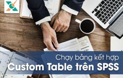 Chạy bảng kết hợp Custom Tables trong SPSS