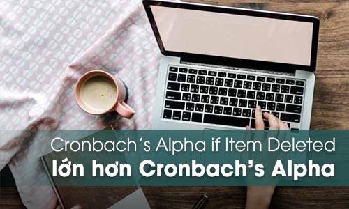 Cronbach's Alpha if Item Deleted lớn hơn Cronbach's Alpha của nhóm