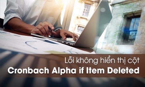 Không xuất hiện cột Cronbach's Alpha if Item Deleted